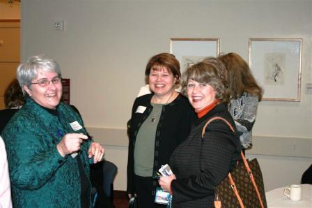 Nicki Grinstead (faculty), Lori Houghton-Rahrig, '81 & '01 (faculty), and Melodee VandenBosch, '79 & '03 (faculty)